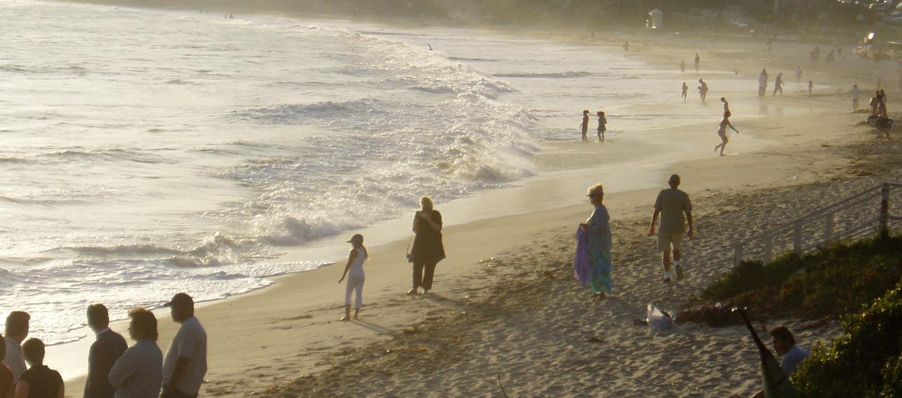 受傷したカリフォルニアのラグナビーチ